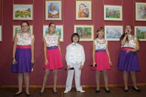 Открытие выставки творческих работ учащихся  «Моя малая Родина»
