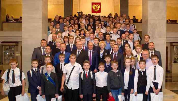 Юные техники и изобретатели Тамбовской области  в Государственной Думе